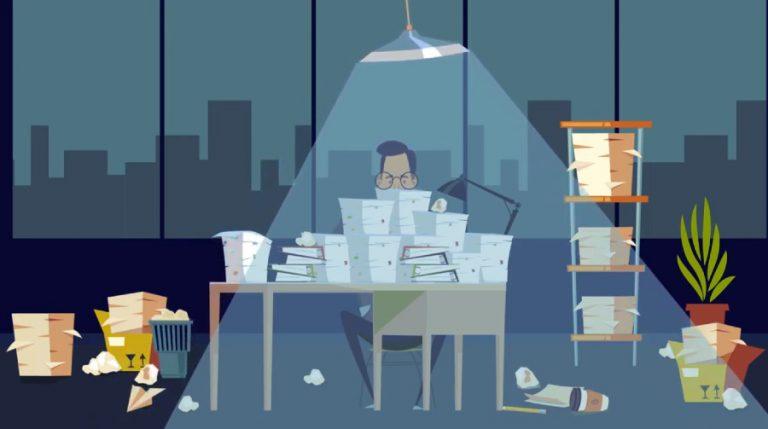 אנימציה לעסקים במשרד