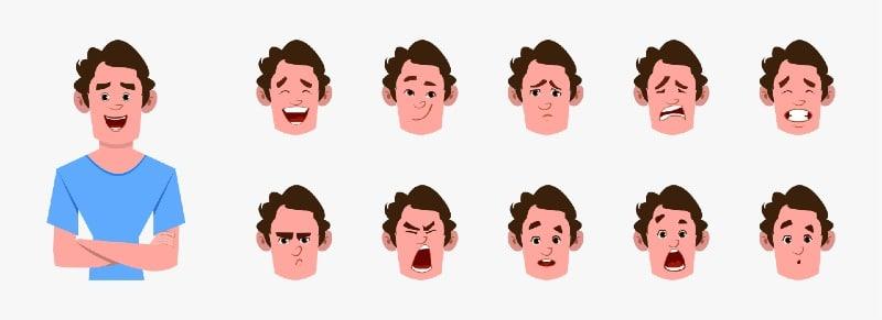 הבעות פנים ל סרט אנימציה